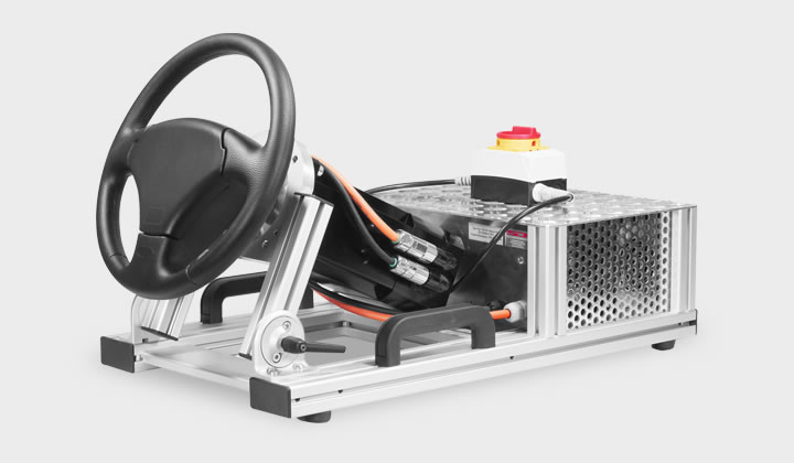 Der stärkste Force-Feedback Lenkrad-Simulator für Anwendungen mit außerordentlich hohem Drehmoment ist das SENSO-Wheel HT - the best steering wheel simulator for applications with a high torque is the SENSO-Wheel HT