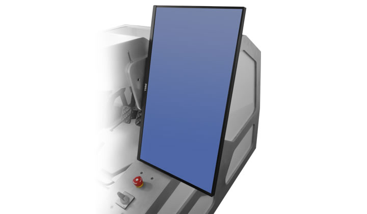 Der Touchscreen für das Simulatorcockpit SENSO-TM - touchscreen for the simulator cockpit SENSO-TM